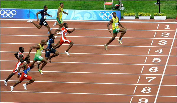 How I felt beating some random college kid for 2nd place a tiny DIII track meet.
